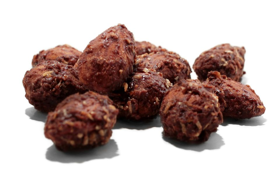 Chocolate coconut almonds from Q's Nuts in Somerville.