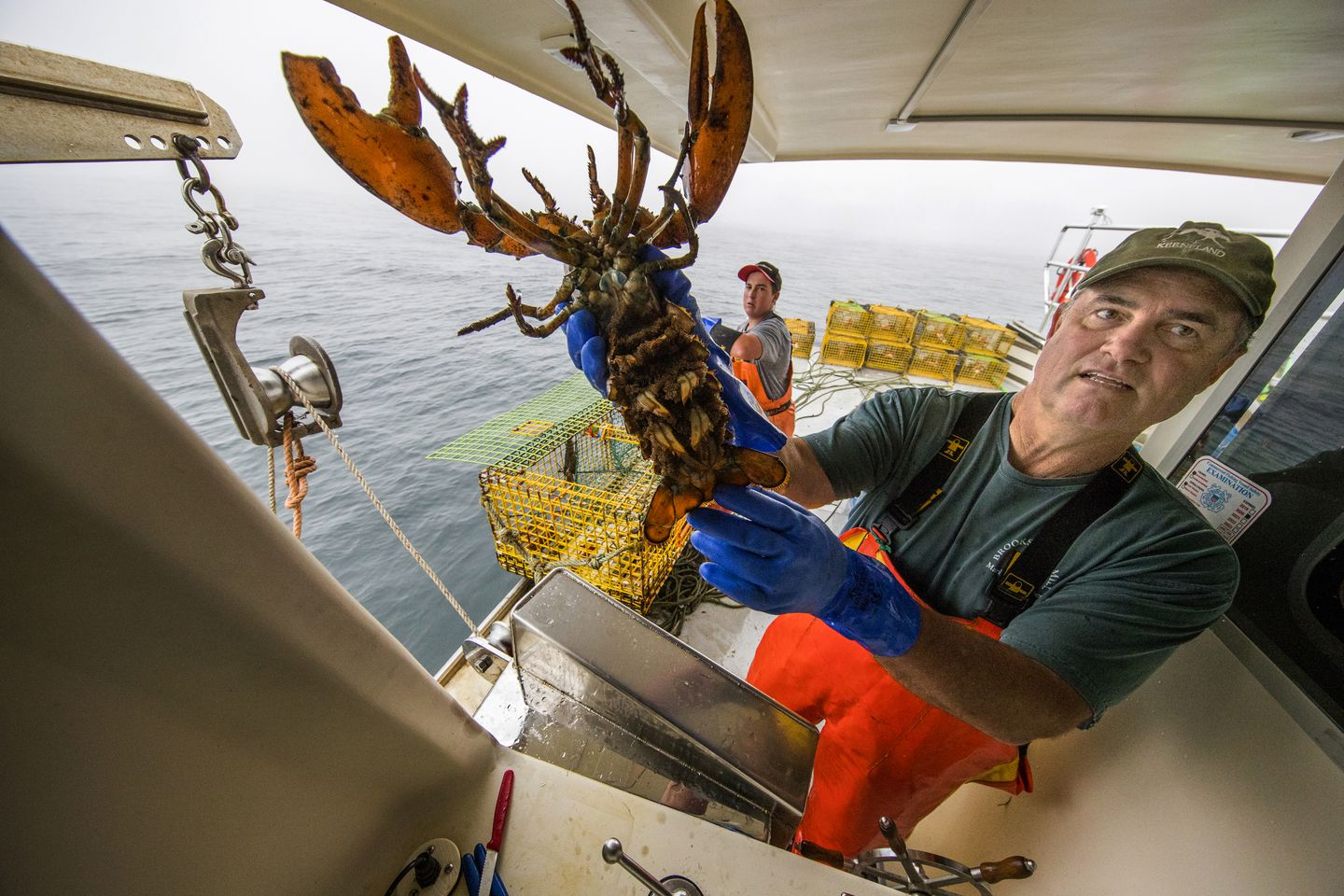 John Farrell goes lobstering - The Boston Globe