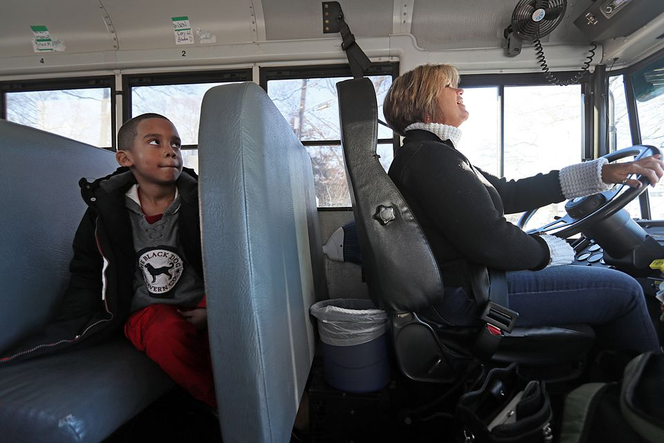 Jacqueline Merritt takes her son, Marcus, when she drives for field trips and sporting events.