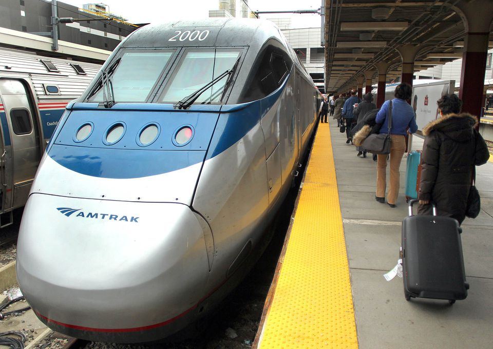 An Acela train at South Station in 2010.