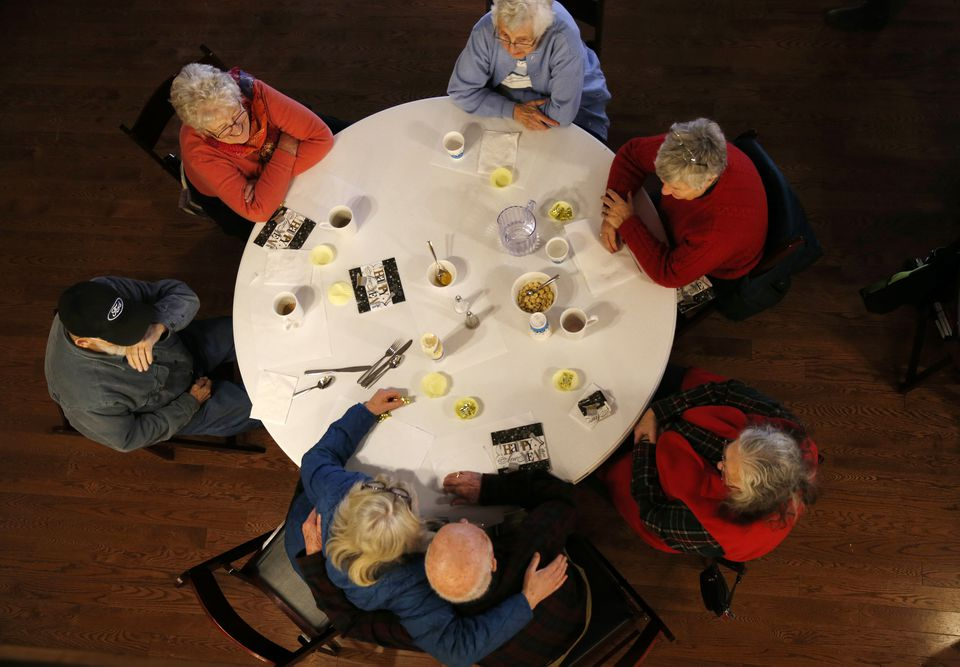 Seniors attended a weekly community lunch at The Commons.