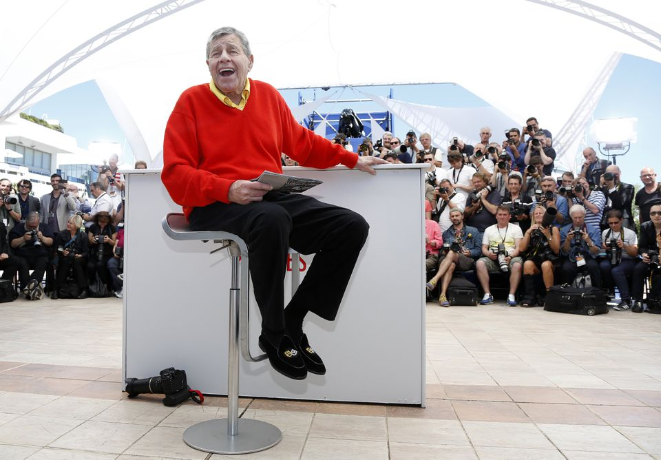 Jerry Lewis at the 66th annual Cannes Film Festival in Cannes, France, in May 2013.