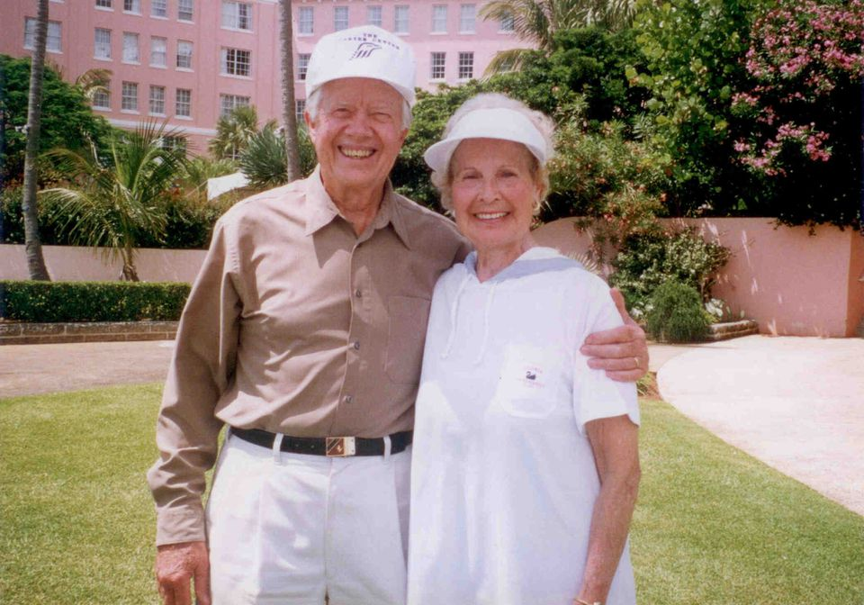 Sally Hoyt with former president Jimmy Carter in 1979.