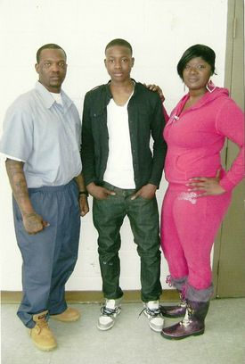 Terry Rozier had many troubles at home, with his father, Terry Sr. (left), in and out of prison and his mother, Gina Tucker (right), struggling to keep him safe.