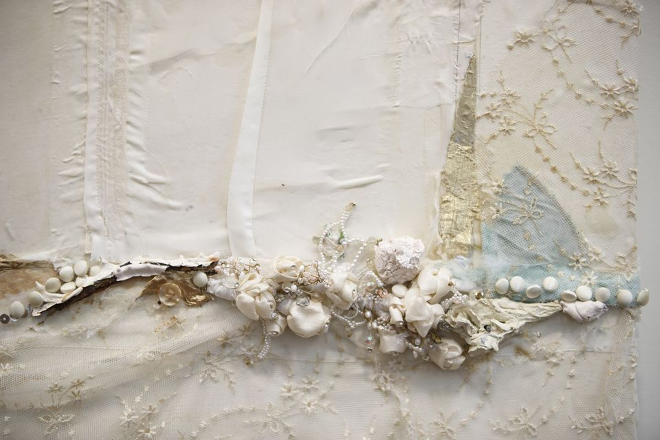 """This is a detail from """"Marriage"""" by artist Brenda Cirioni."""