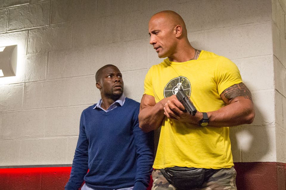 """Kevin Hart and Dwayne Johnson in """"Central Intelligence."""""""