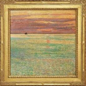 "Childe Hassam's ""Sunset at Sea."""