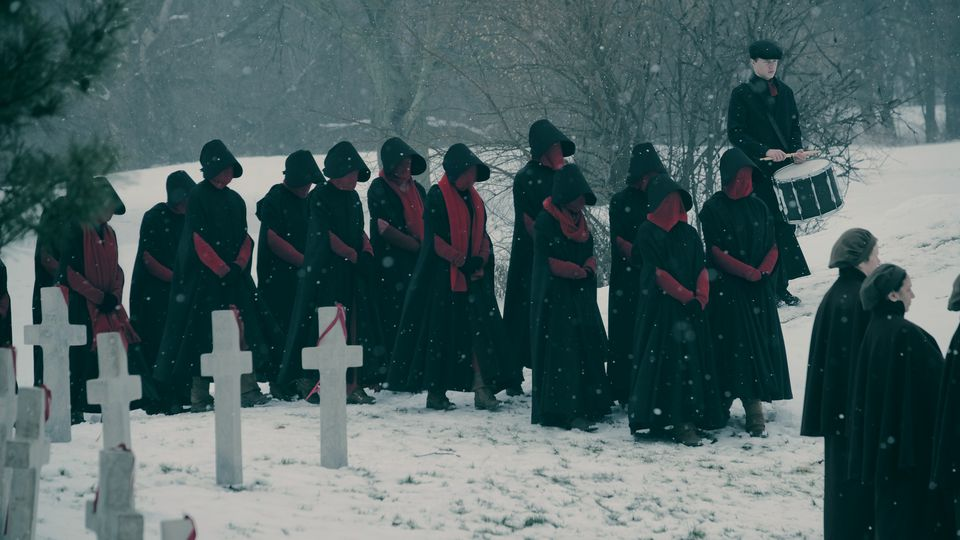 """A scene from the second season of """"The Handmaid's Tale"""" on Hulu."""
