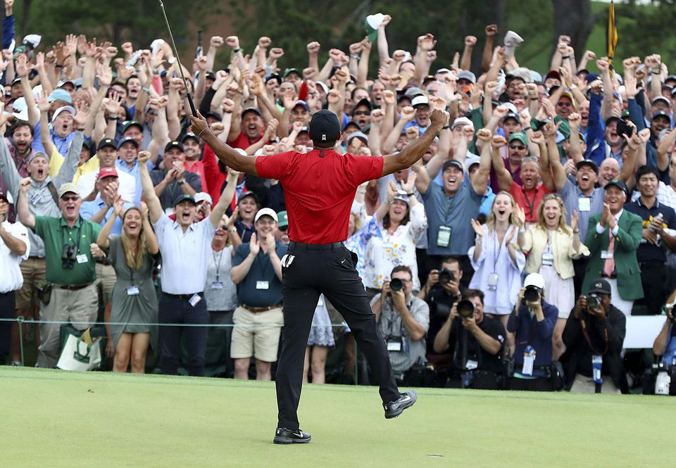 Tiger Woods's extraordinary win at the Masters was a crowd-pleaser.