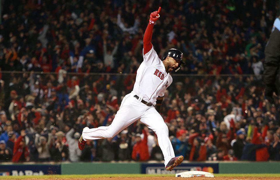 3fc6cbc7fa3 Eduardo Nunez celebrated after belting a three-run home run in seventh  inning.