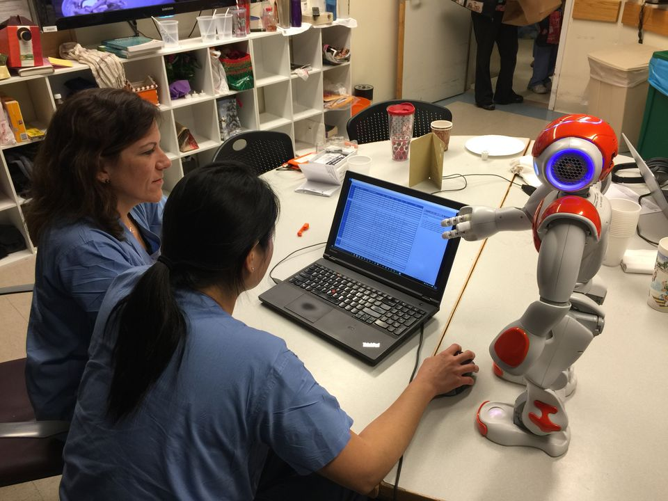 Beth Israel Deaconess Medical Center employees worked on a project to allow a robot to function as nurse manager.