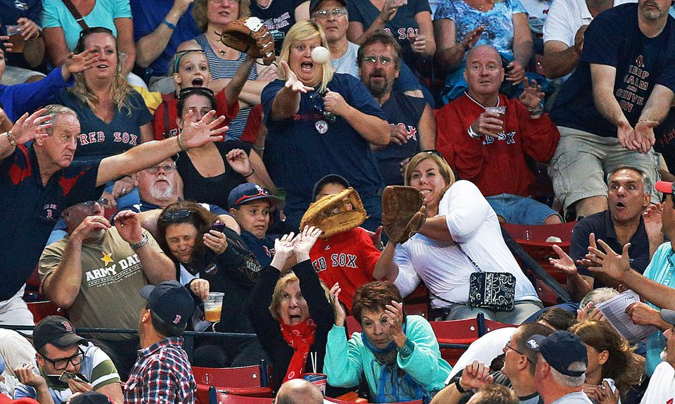 Those who showed up at Fenway Park on Wednesday night had a ball.