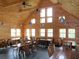 Between mealtimes at Poplar Stream Falls Hut on the Maine Huts and Trails System.
