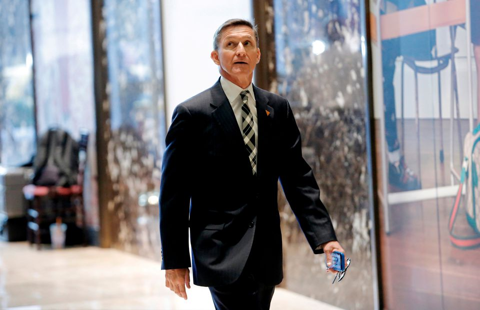 Retired US Army Lieutenant General Michael Flynn arrived to meet with President-elect Donald Trump at Trump Tower in Manhattan.