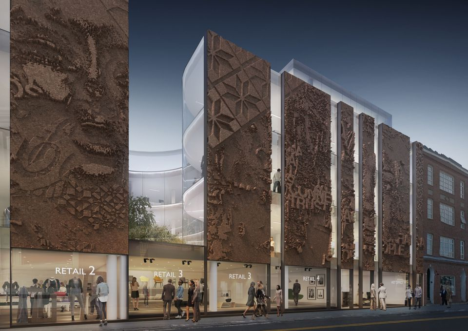 Rendering of new building developer Gerald Chan would build to replace the Harvard Square theater.