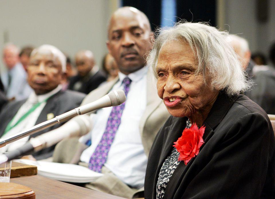Dr. Olivia Hooker testified before members of Congress in Washington in 2005.