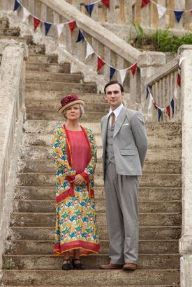 """Julie Walters and Henry Lloyd-Hughes in PBS's """"Indian Summers."""""""