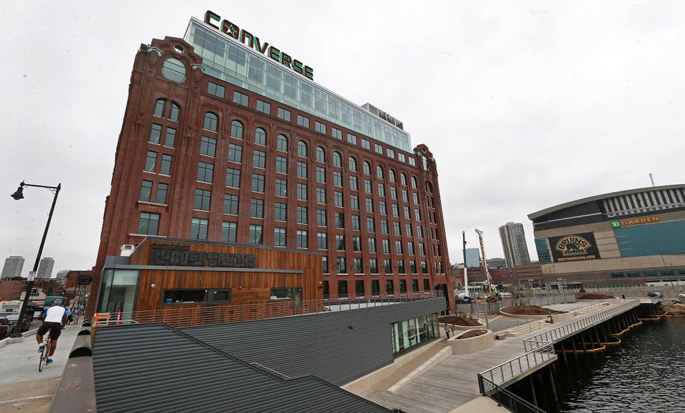 A German investment fund paid $150 million for the building that houses Converse's headquarters in Boston.