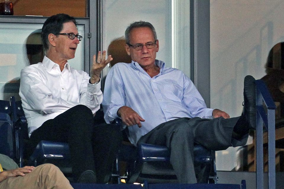 Larry Lucchino (right) may not have the same pull with Red Sox owner John Henry (left) as he did when the Fenway Sports Group initially took over ownership.