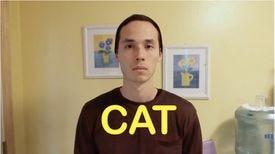 """Jimmy Craig (""""Cat"""") in """"Cat-Friend vs. """"Dog-Friend."""""""