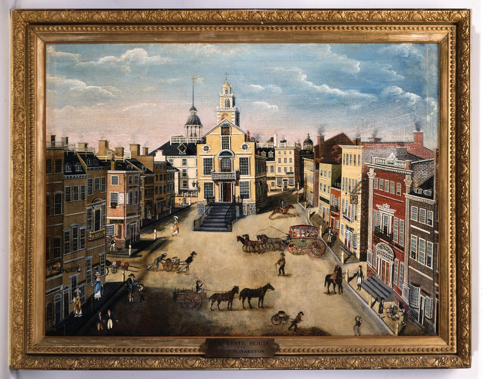 """""""State Street, 1801"""" by James Brown Marston is featured on the cover of a new book """"The Citizen Poets of Boston: A Collection of Forgotten Poems, 1789-1820,"""""""