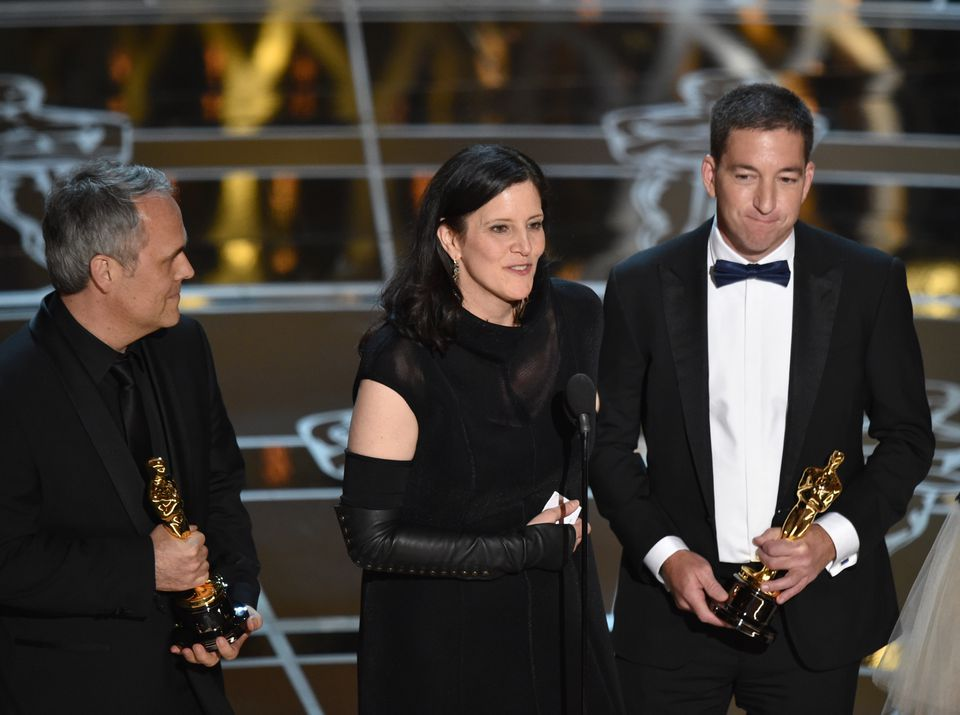 Laura Poitras, who grew up in Holliston, accepts the documentary feature