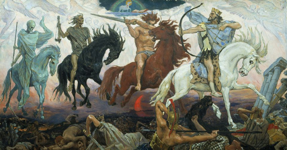 """Four Horsemen of Apocalypse,"" by Viktor Vasnetsov."