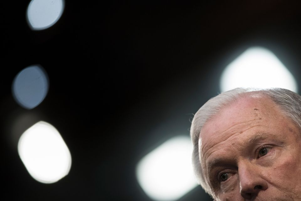 """Attorney General Jeff Sessions during a Senate hearing. The Trump administration is preparing to """"redirect resources of the Justice Department's civil rights division toward investigating and suing universities over affirmative action admissions policies deemed to discriminate against white applicants,"""" according to the New York Times."""