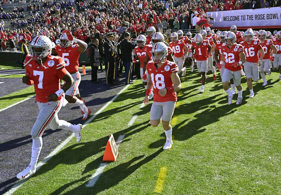 Ohio State played in the Rose Bowl Tuesday.