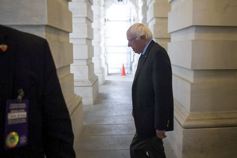 US Senator Bernie Sanders left the Capitol Building after a Democratic policy caucus in Washington earlier this week.