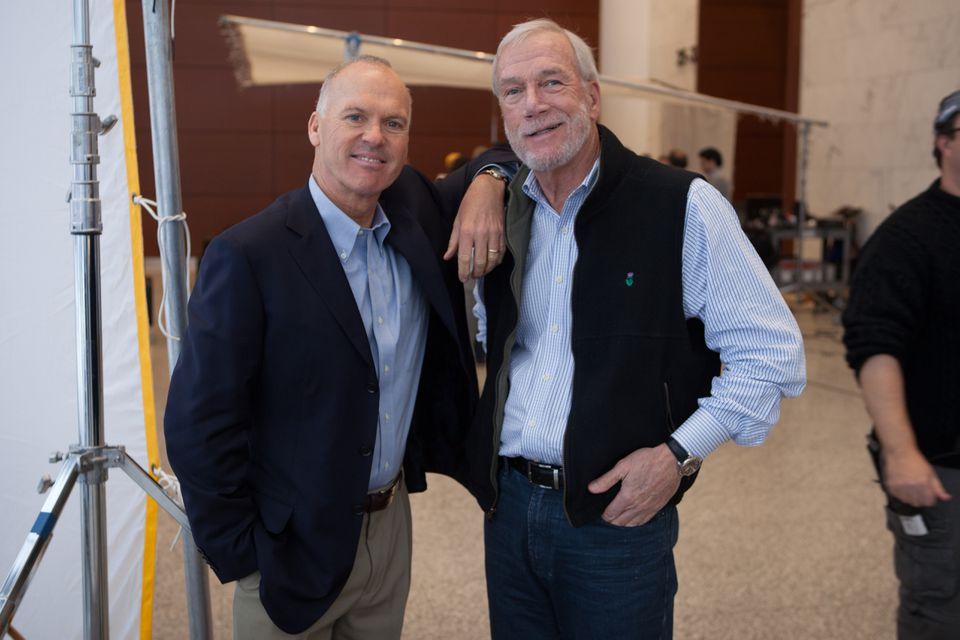 Michael Keaton (left) and Walter V. Robinson.