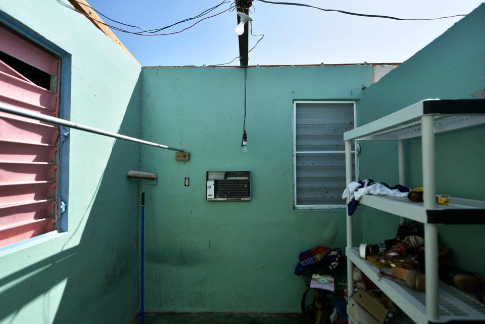 A house that was destroyed by Hurricane Maria in Yabucoa, Puerto Rico.