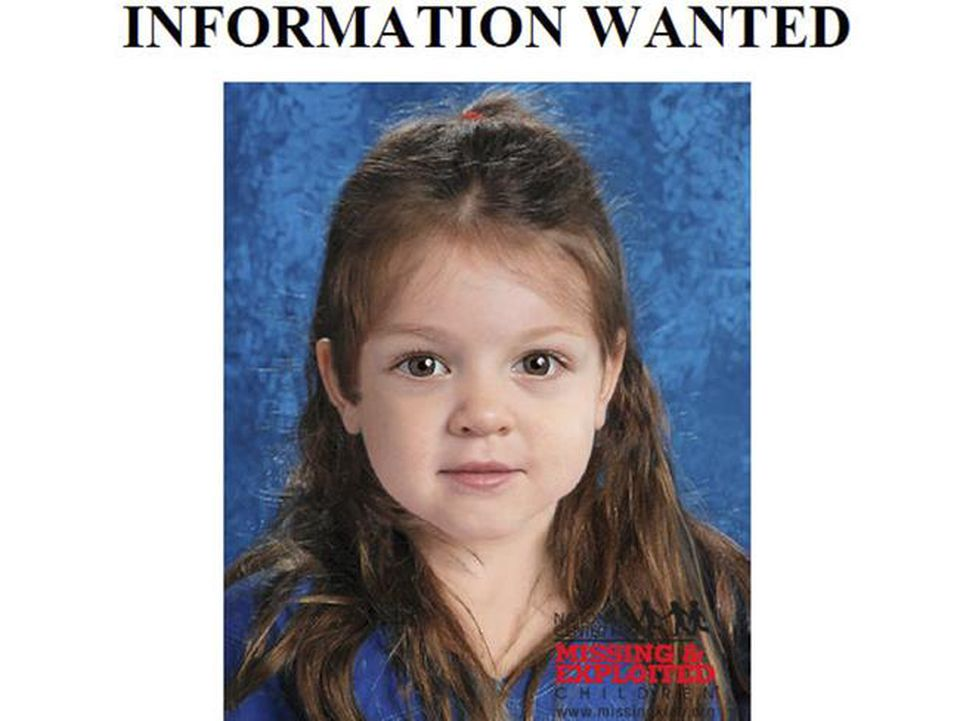 This computer-generated composite image depicts the girl found on Deer Island.