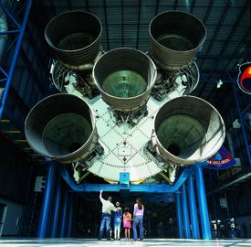 A Saturn V rocket at Kennedy Space Center.