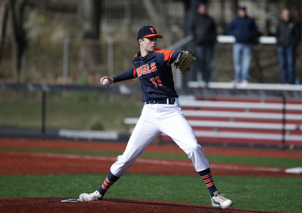 Walpole righthander Cam Schlittler is the ace of the Rebels' pitching staff.