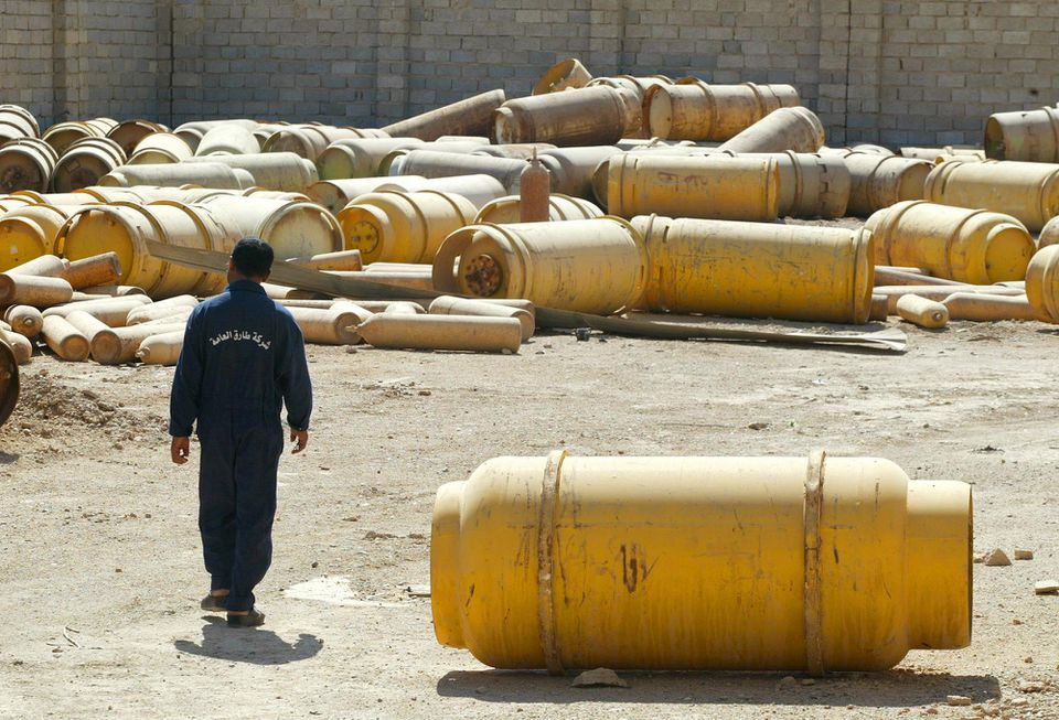 The Bush administration sent a slim force of US troops into Iraq in 2003 on a futile search for weapons of mass destruction, supposedly hidden by Saddam Hussein in areas like this plant in Mulahimah. Extensive WMD searches during the postwar occupation turned up nothing of significance.