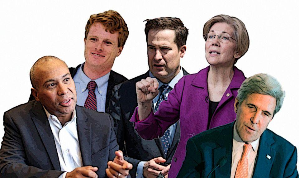 Deval Patrick, Joseph P. Kennedy III, Seth Moulton, Elizabeth Warren, John Kerry