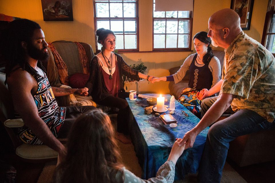 Gronski hosts a meditation gathering in Wolfeboro, New Hampshire. Energy healing is one of her passions, though she hasn't made a lot from it yet.