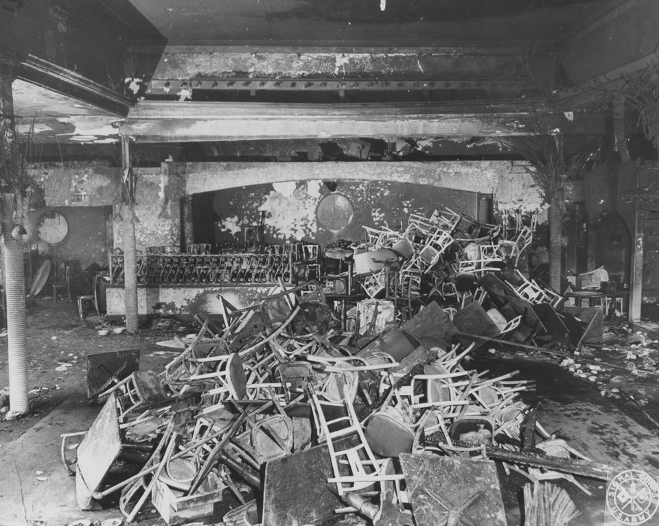 The scene of the fatal fire.