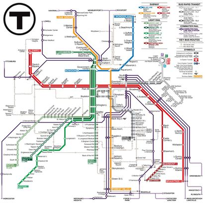 Providence Subway Map.Mbta Map Making Contest Garners 17 000 Votes The Boston Globe