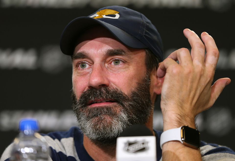 "Actor Jon Hamm on St. Louis faithful during Boston's run of titles: ""We've got kind of a beef don't we."""