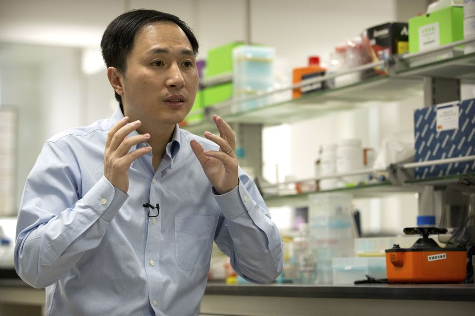 He Jiankui spoke during an interview in October at a laboratory in Shenzhen in southern China's Guangdong province.
