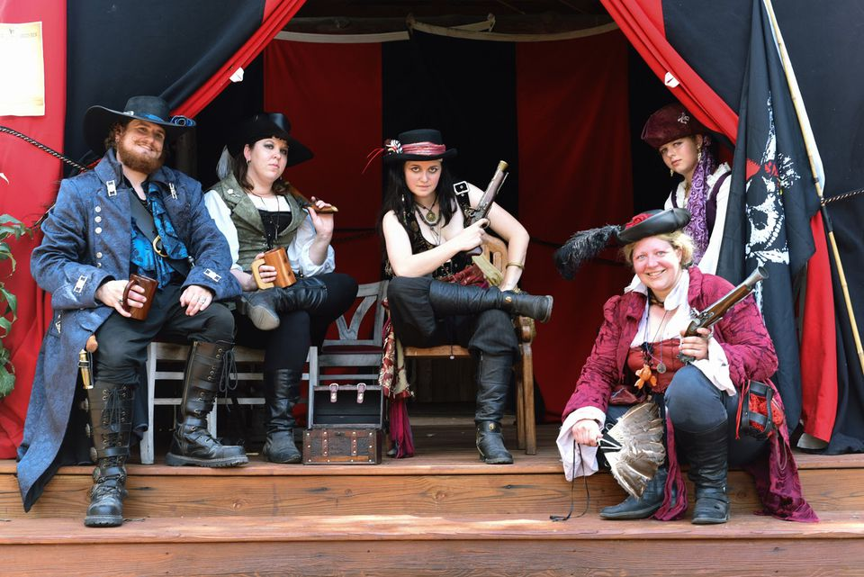 A merry band of pirates at the Midwest Pirate Fest in Nebraska in August.