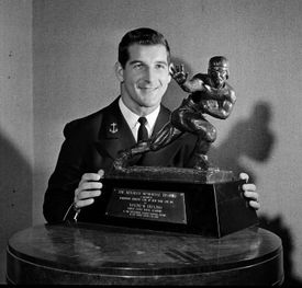 Mr. Bellino won the Heisman Trophy in 1960, while he was a halfback at the Naval Academy. He was the Naval Academy's first Heisman recipient.