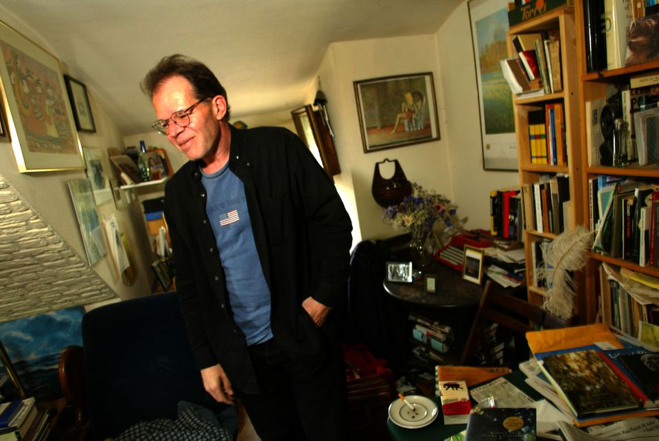 Pulitzer Prize-winning poet Franz Wright in his Waltham apartment in 2004.