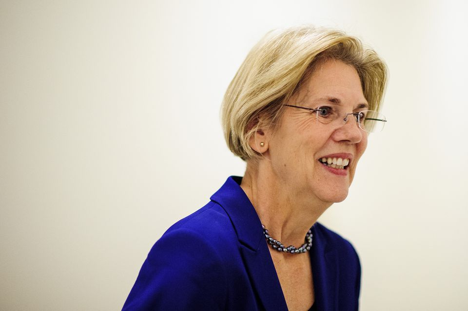 Senator-elect Elizabeth Warren following a meeting with the Massachusetts delegation in Rep. Edward Markey's office on Capitol Hill in November.