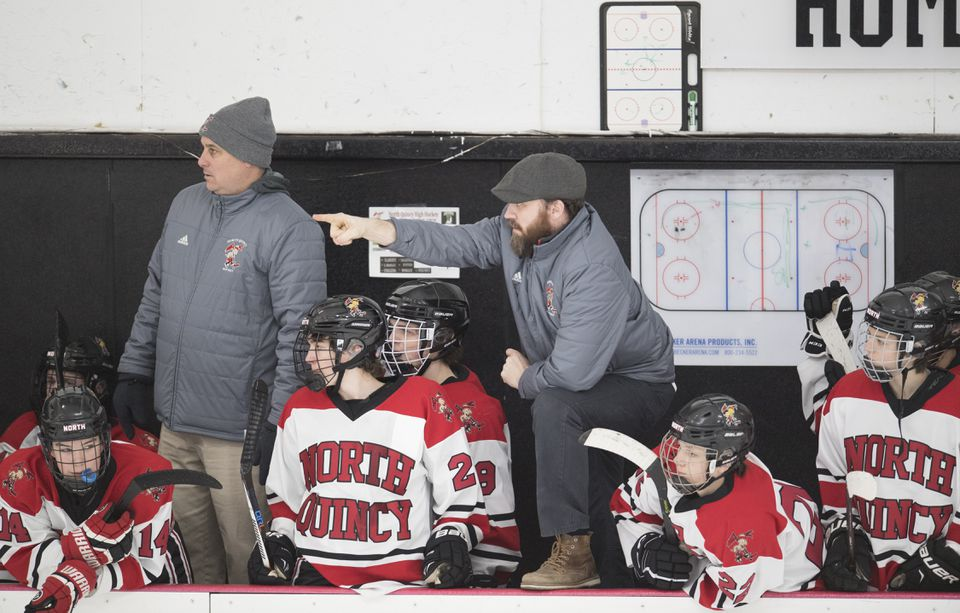North Quincy boys' hockey coach Matt Gibbons has directed his Red Raiders to a 9-3 start, which has already tripled the win total from last season's 3-16-1 campaign.