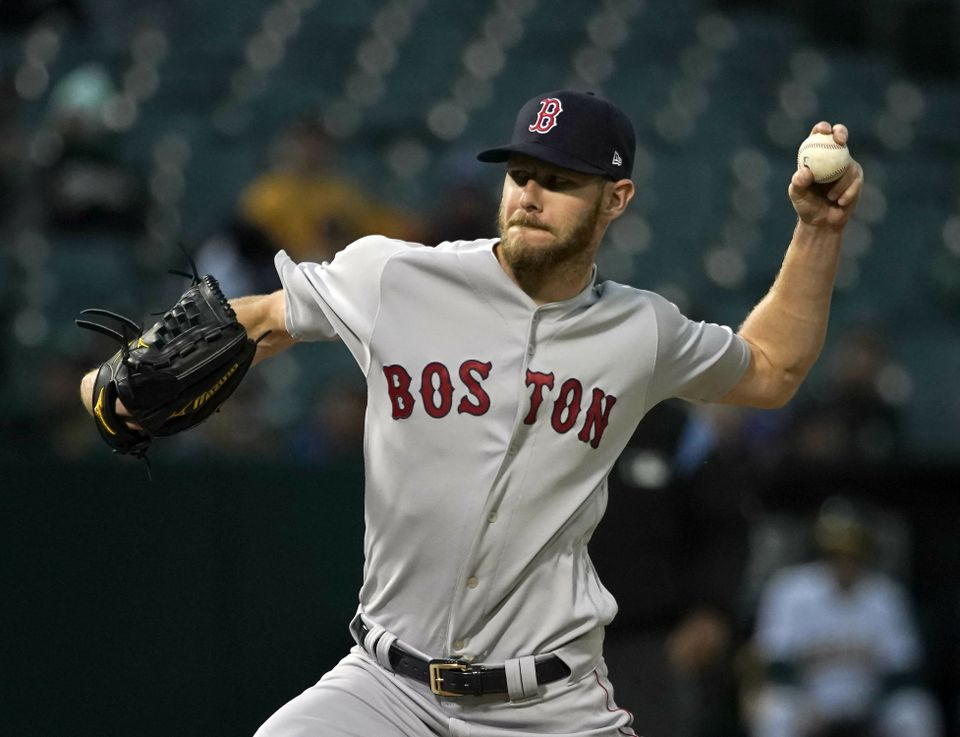 Chris Sale wasn't overpowering Tuesday night in Oakland, but he was effective in the Red Sox' 1-0 loss.
