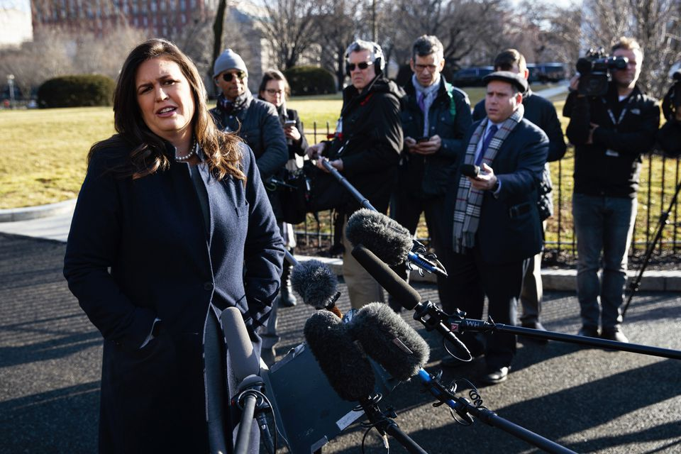 White House press secretary Sarah Sanders said she was interviewed by Special Counsel Robert Mueller's office, which is probing possible collusion between President Trump's campaign and the Kremlin in the 2016 election.