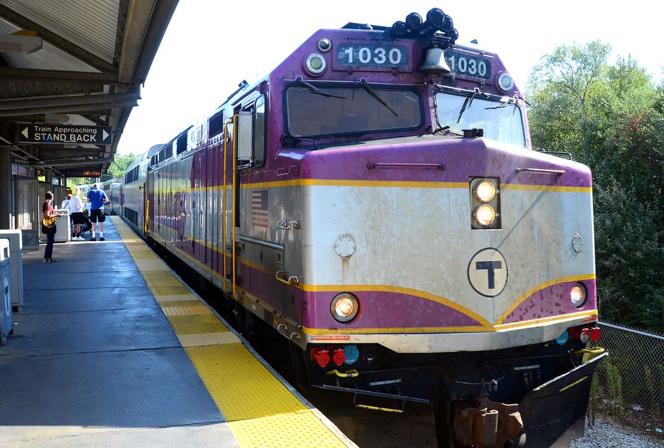 A commuter train pulled into Kingston Station.